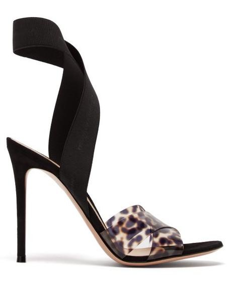 Gianvito Rossi - Plexi 105 Leopard Print Sandals - Womens - Leopard