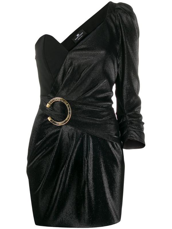 Elisabetta Franchi one shoulder mini dress in black