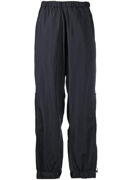 Hyein Seo high-rise loose fit trousers in black
