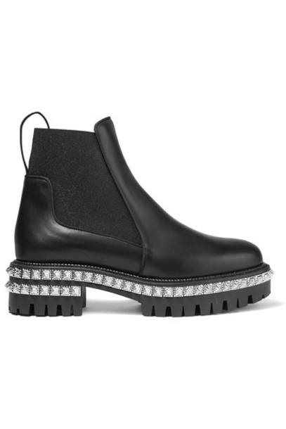 Christian Louboutin - By The River 50mm Studded Leather Chelsea Boots - Black