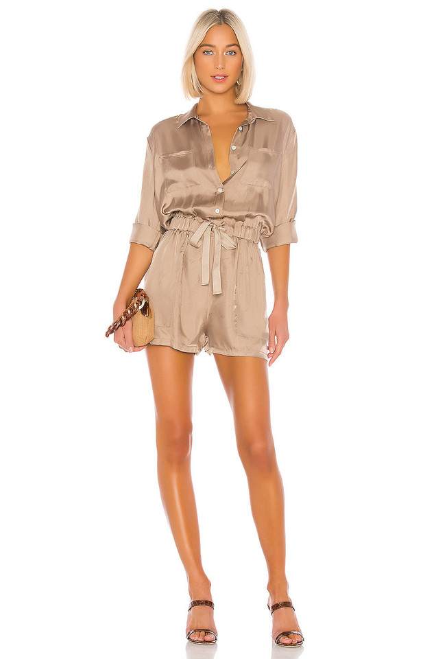Cinq a Sept Giles Romper in taupe