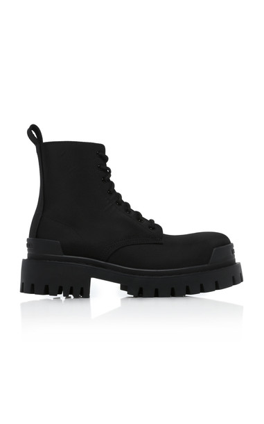 Balenciaga Strike Canvas Ankle Boots in black