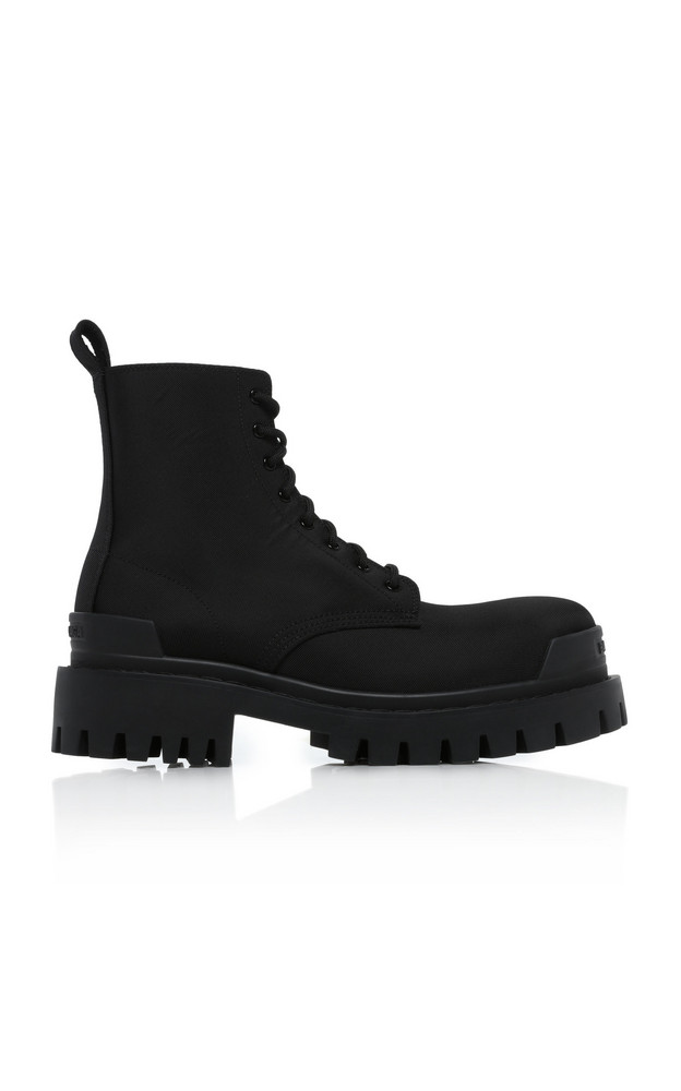 Balenciaga Strike Canvas Ankle Boots in black