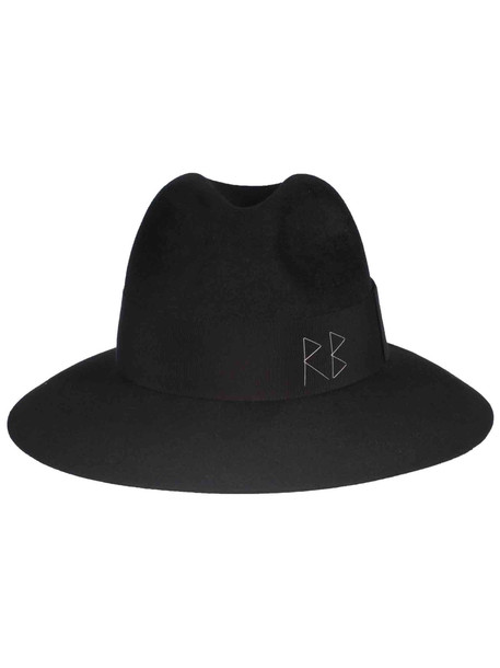 Ruslan Baginskiy Stitch Detail Hat in black