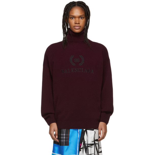 Balenciaga Purple BB Turtleneck