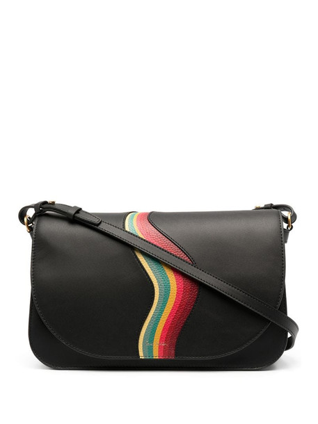 Paul Smith Swirl leather tote bag in black