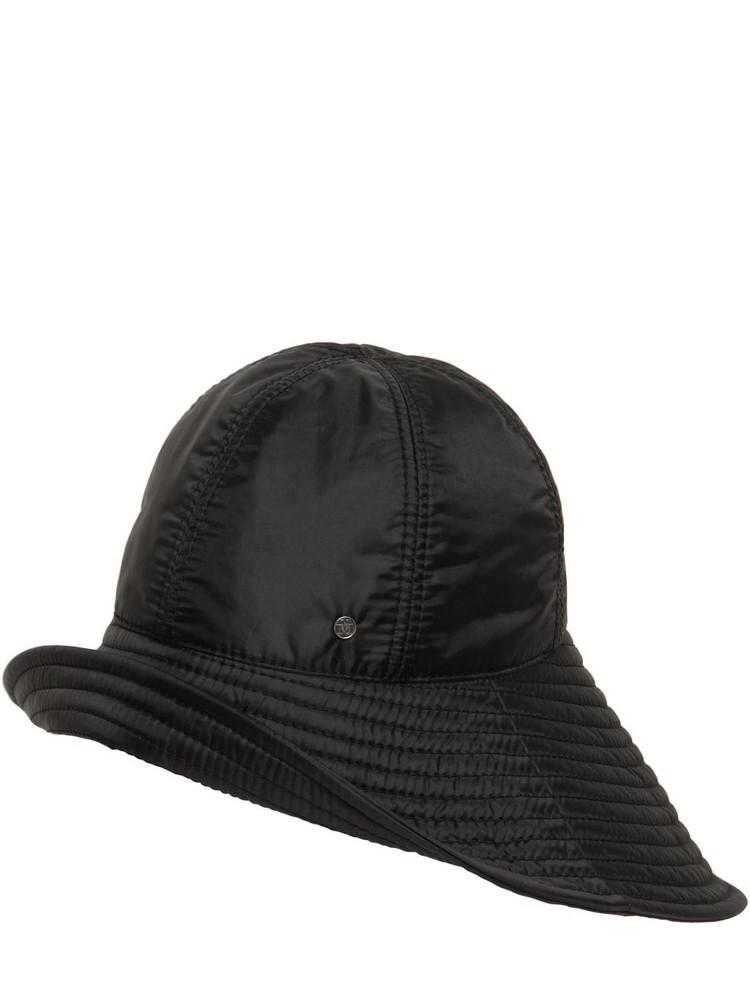 MAISON MICHEL Julienne Bomber Nylon Hat in black