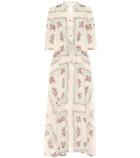 Tory Burch Floral cotton dress in white