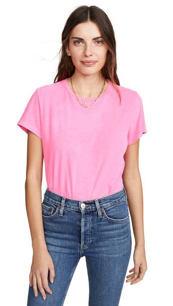 RE/DONE Classic Tee in pink