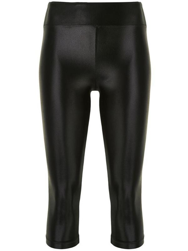 Koral Lustrous cropped leggings in black