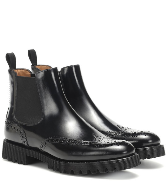 Church's Leather Chelsea ankle boots in black
