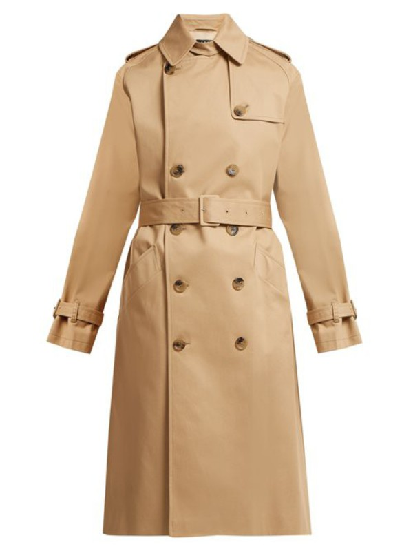 A.P.C. A.p.c. - Greta Cotton Twill Trench Coat - Womens - Beige