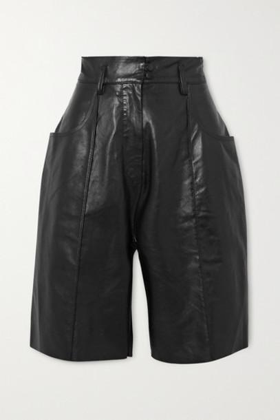 Petar Petrov - Hugo Leather Shorts - Black