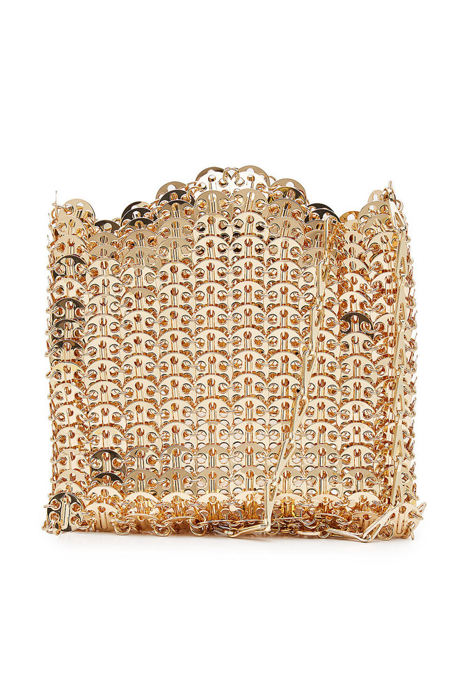 Paco Rabanne Iconic 1969 Chain Shoulder Bag  in gold