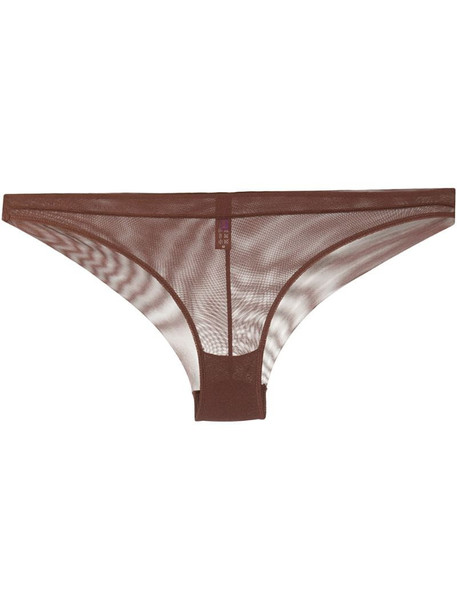 Maison Close mesh briefs in brown