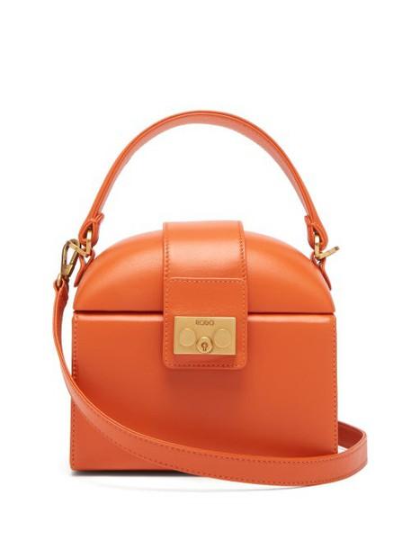 Rodo - Trunk Leather Cross Body Bag - Womens - Orange