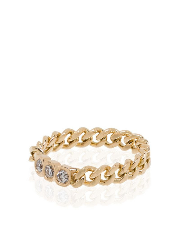 SHAY 18kt yellow gold diamond chain-link ring