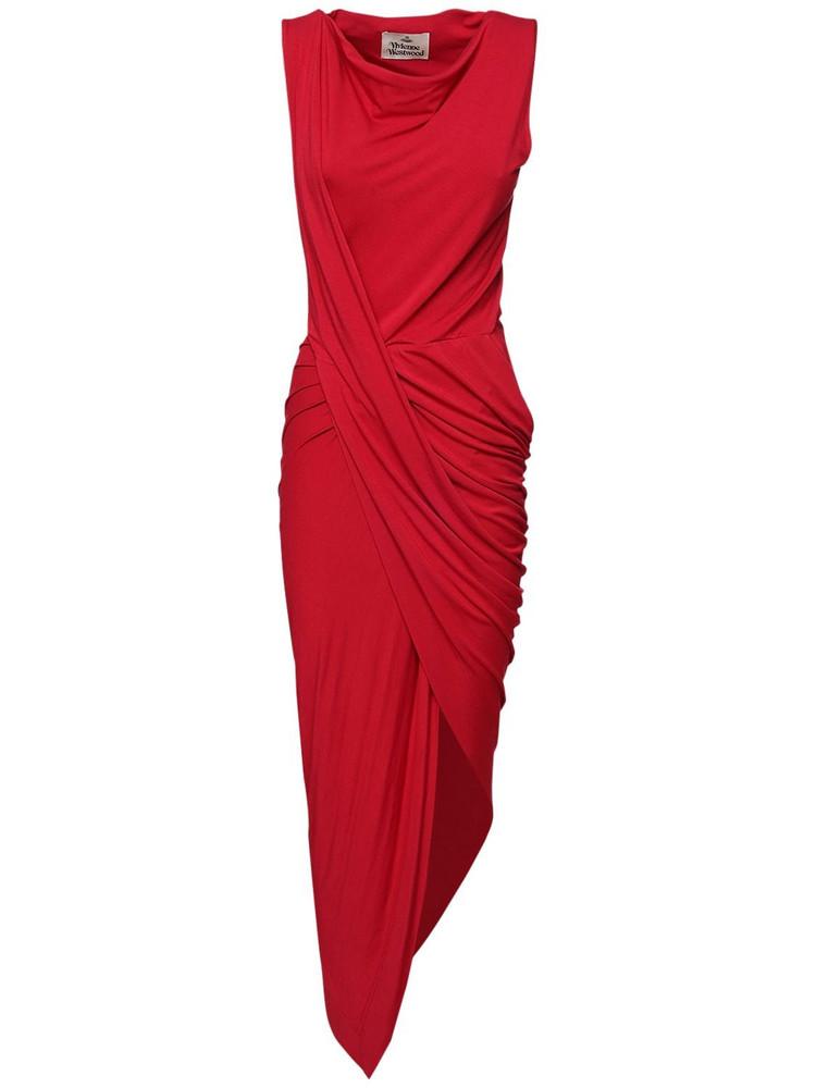 VIVIENNE WESTWOOD Vian Fluid Viscose Jersey Dress in red