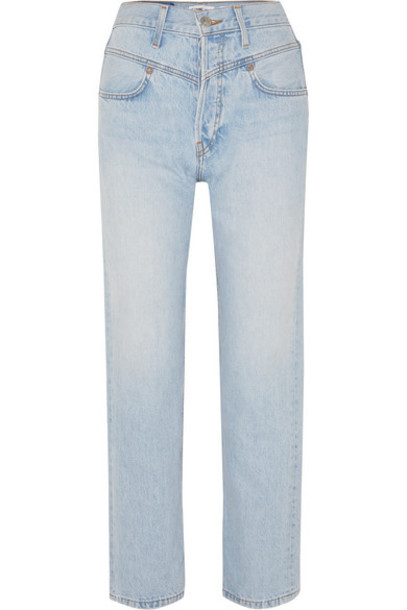RE/DONE - Double Yoke High-rise Straight-leg Jeans - Light denim