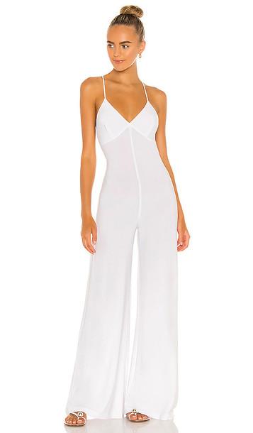 Norma Kamali X REVOLVE Low Back Slip Jumpsuit in White