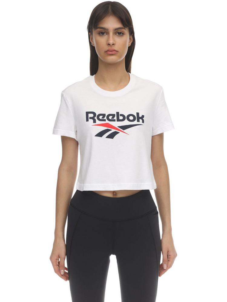 REEBOK CLASSICS Cl F Big Logo Cotton T-shirt in white