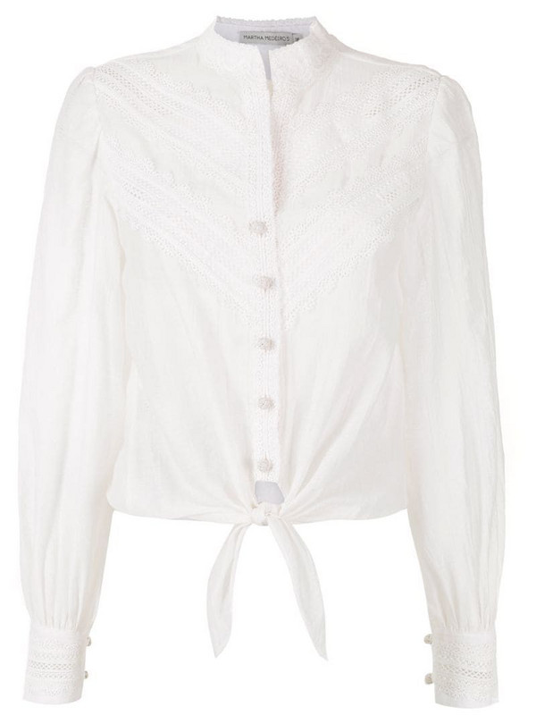 Martha Medeiros Bianca cotton T-shirt in white