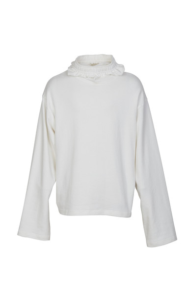 Nohant Oversized Cotton Pullover Size: S in white