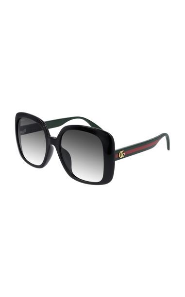 Gucci Oversized Square-Frame Sunglasses in black