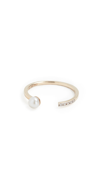 Mateo 14k Uni Pearl and Diamond Ring in gold / yellow