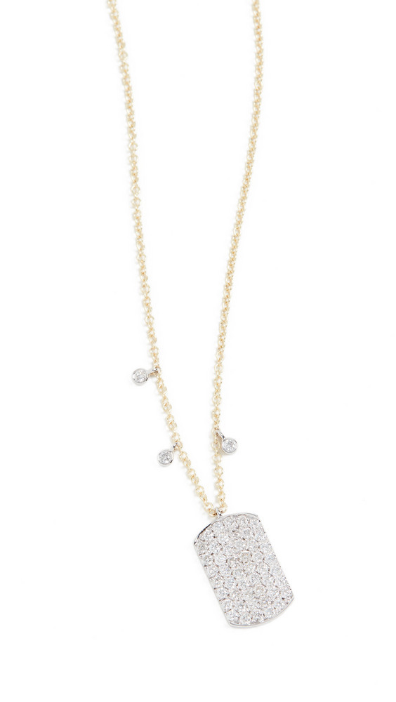Meira T 14k Pave Dogtag Necklace in gold / yellow