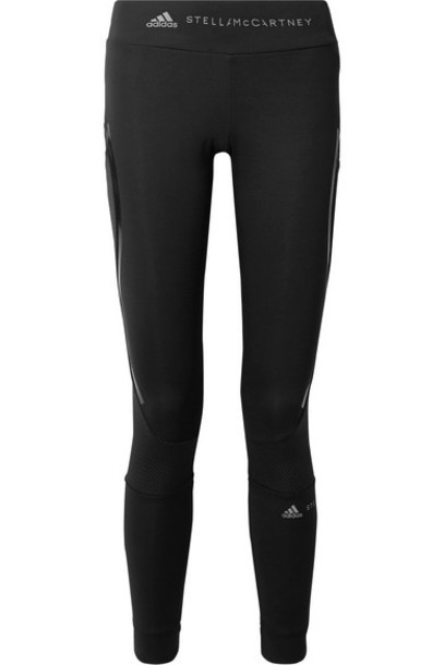 adidas by Stella McCartney - Essentials Mesh-paneled Climalite Leggings - Black