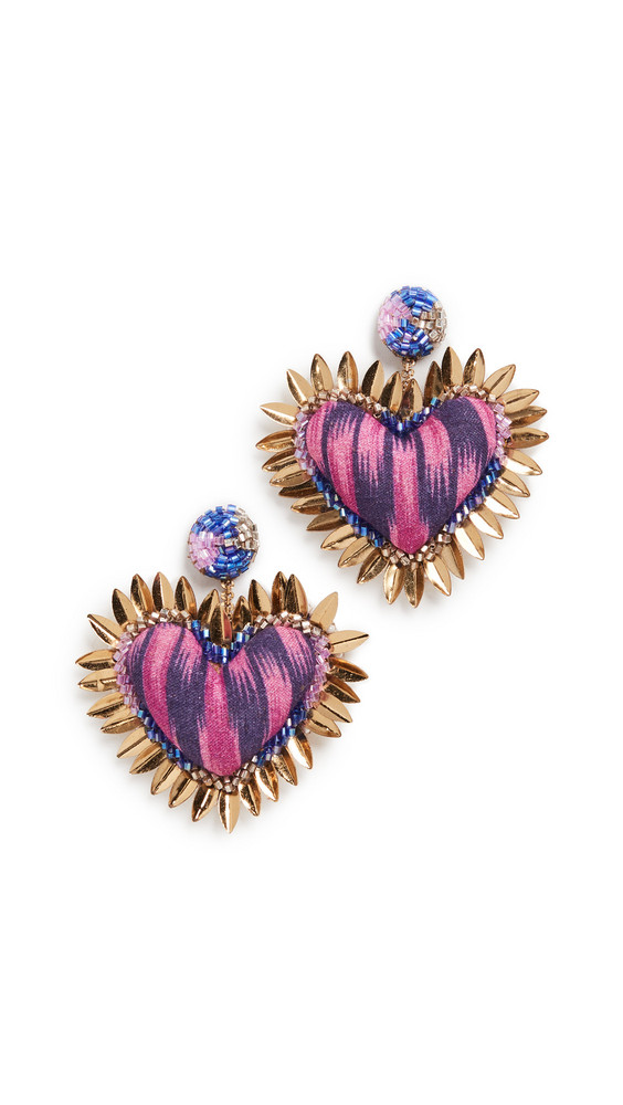 Deepa Gurnani Deepa by Deepa Gurnani Prisha Earrings in plum