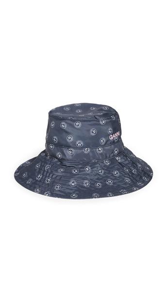 GANNI Seasonal Recycled Tech Fabric Bucket Hat