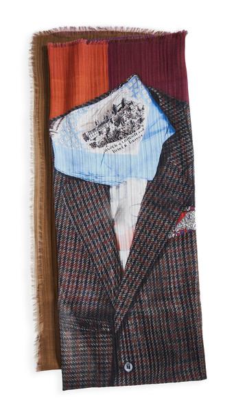 Franco Ferrari Paris Man Outfit Scarf in plum