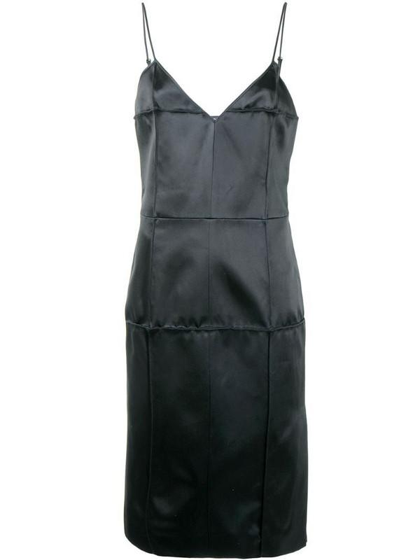 Kwaidan Editions statin slip dress in black