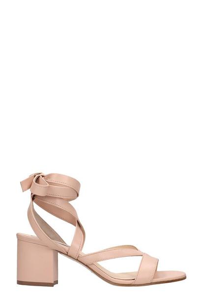 Fabio Rusconi Pink Leather Sandals
