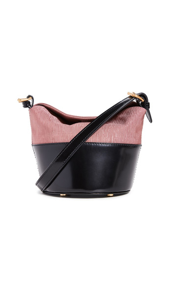 By Far Mini Jamie Bag in black / pink