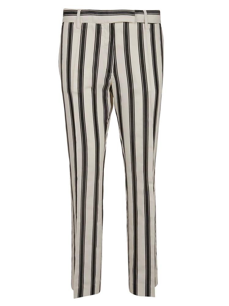 True Royal Striped Trousers in nero
