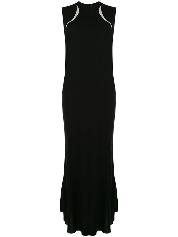Haider Ackermann colour-block draped dress in black