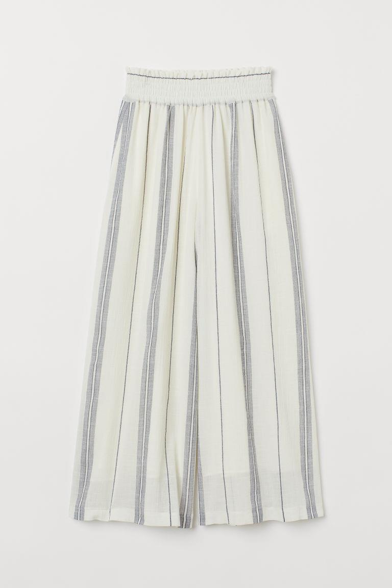 Wide-cut Pull-on Pants