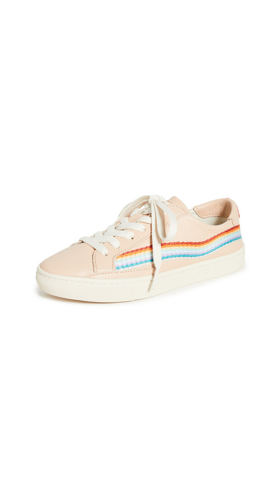 Soludos Rainbow Wave Sneakers in pink