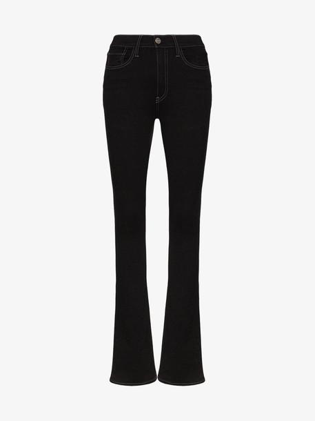3x1 maya skinny flare jeans in black