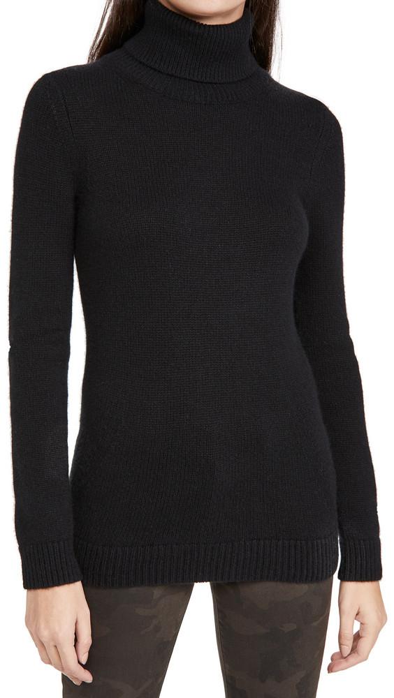 TSE Cashmere Cashmere Foldover Turtleneck in black