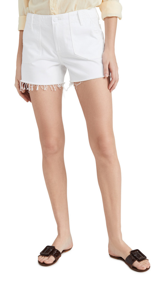 PAIGE Mayslie Utility Shorts in white