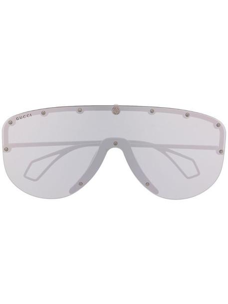 Gucci Eyewear oversized mask sunglasses in black