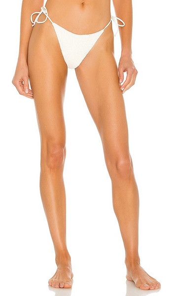 L*SPACE Aubree Bikini Bottom in Ivory in cream