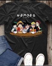 shirt,anime,naruto uzumaki,dragon ball z,black,short sleeve