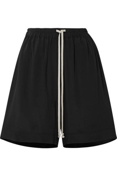Rick Owens - Crepe De Chine Shorts - Black