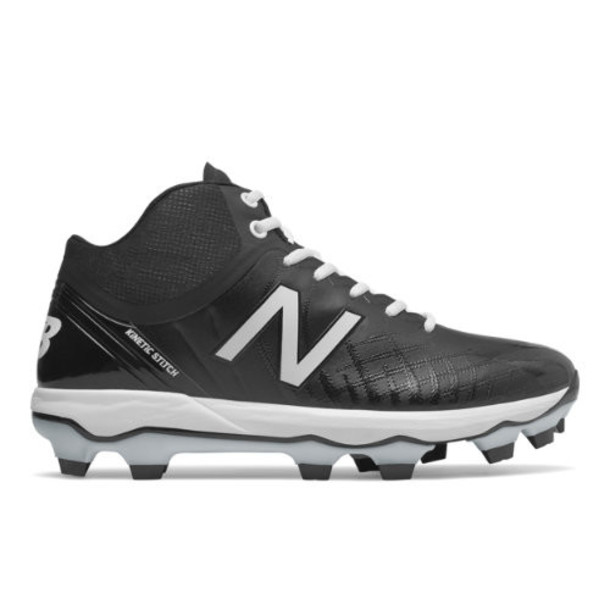 New Balance 4040v5 Mid-Cut TPU Men's Cleats and Turf Shoes - Black/White (PM4040K5)
