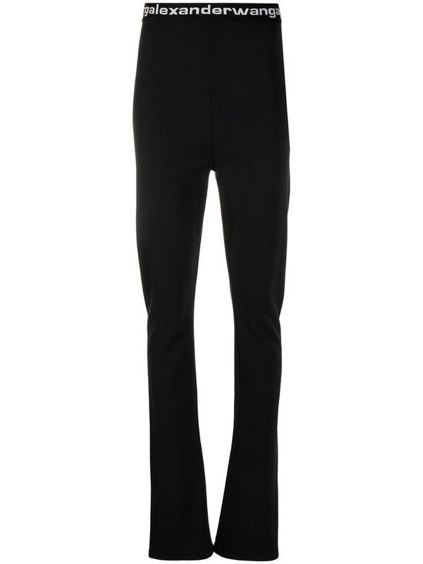 T By Alexander Wang logo band trousers in black
